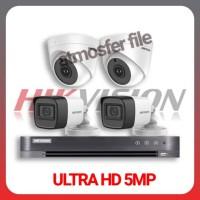PAKET CCTV HIKVISION 4CH 5MP ULTRA HD + HDD 2TB LENGKAP TINGGAL PASANG