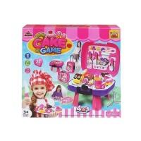 Mainan Anak - Cake Game 4 in 1 Playset Party Game Koper Kue Potong