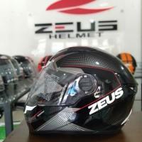 HELM FULL FACE ZEUS 811 SPEEDSTAR BLACK RED
