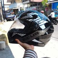 HELM FULL FACE ZEUS 811 STAR BLACK WHITE