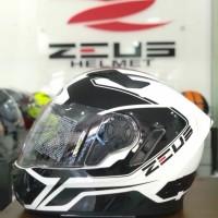 HELM FULL FACE ZEUS 813 WHITE BLACK