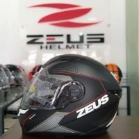 HELM FULL FACE ZEUS 811 SPEEDSTAR BLACK RED MATT