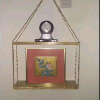 Ambalan gantung 2 tingkat dengan rantai tas gold