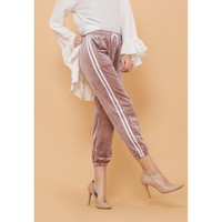 Hijab Ellysha NEW SHINNY PLEATED LISTED JOGGER PANTS PINK