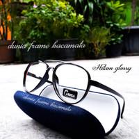 Frame kacamata Aviator vintage lentur gratis lensa minus antiradiasi