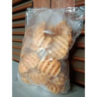 Kentang French Fries WAFFLES 500 Gr Beku Produk Import USA Repack