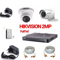 PAKET CCTV HIKVISION 2CH 1080P 2MP KOMPLIT