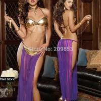 Lingerie Sexy - Sexy Costumes Dancer Ungu Emas - SLC - 103
