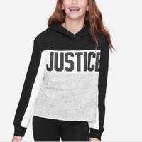 Sweater Hoodie anak perempuan merk justice sisa ekspor (motif5)