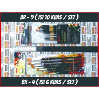 Kuas lukis cat air / minyak / akrilik / poster brushes BR 4 set isi 6