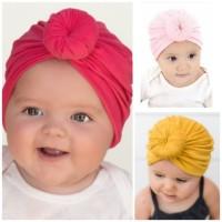 Turban Anak Bayi Donat - Bandana Anak Bayi Perempuan - Ciput Bayi