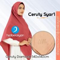 Crepe Syari Hijab Segi Empat Diamond Kerudung Jilbab umama Scarf