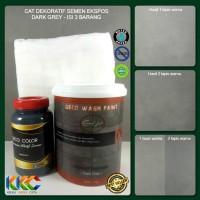 Isi 3 Barang - Cat Dekoratif Wash Paint Semen Expose - Dark Grey
