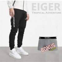 Celana Jogger Panjang Olahraga EIGER N45 SPORTY - Navy, M