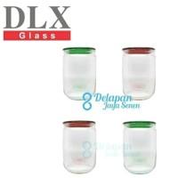 Set Canister (isi 4pcs)/ Set Toples Beling Kaca / Hermetico Jar