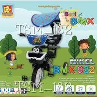 Sepeda Roda Tiga BMX safari PMB 922 Croome dorongan canopy