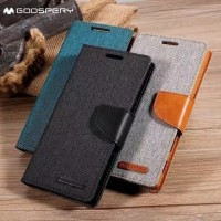 Flip Cover Canvas SAMSUNG GALAXY J1 ACE J110 Leather Sarung Flip Case