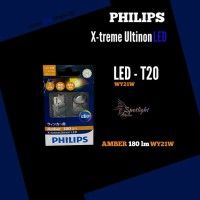 Philips X-treme Ultinon LED WY21W AMBER 180 lm + 200% Lampu Sein Mobil