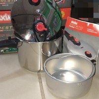 Maxim presto 6lt - 22cm Stainless steel (free teplon 22cm)
