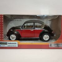 Diecast mobil VW kodok Volkswagen beetle 1976 hitam merah kinsmart