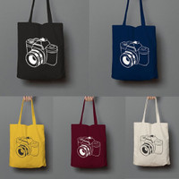 TOTE BAG CAMERA CANVAS TOTEBAG WANITA
