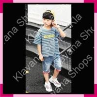 Setelan Pakaian Anak Laki Original Line Jeans Import ZHKFC019