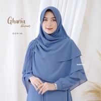 Khimar/Jilbab Syar i Muslimah Ghania Series - Denim Colour/Biru Denim
