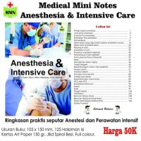 HOT SALE Medical Mini Notes - Anesthesia and Intensive Care
