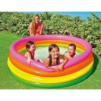 New !! Kolam Renang Anak 4 Ring Sunset Glow Pool INTEX 56441NP