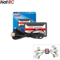 jual Charger baterai 6 in 1 Lipo 3.7V 1S hot rc A100 JST Soket putih