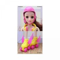 Boneka 3Pcs Set BBID Helm Headset Sepatu adore Warna Roda Campur Maina