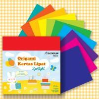 Kertas Lipat Origami Isi 50 Lembar 20cm 10 Warna - Isi 50 Lembar