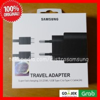 CHARGER 25W SAMSUNG A70 A80 NOTE 10 tipe-C FAST CHARGING ORI 100%