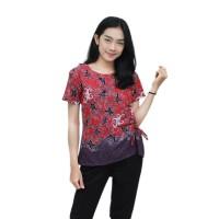 Batik Wanita Blouse Batik S-M-L-XL-XXL-3L-4L-5L Motif Gurita serutr