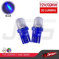 Lampu LED Mobil / Motor / Senja T10 / W5W Convex 1 SMD - Blue