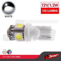 Lampu LED Senja T10 5 SMD 5050 Side Wedge - White