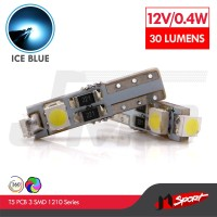 Lampu LED Speedometer T5 PCB 3 SMD 1210 Ice Blue - Model Nyamping
