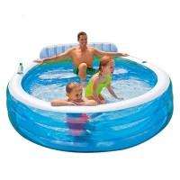 Kolam Renang Karet Dengan Bangku duduk Family lounge Pool Intex