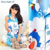 Piyama Cp murah gambar Doraemon Awan