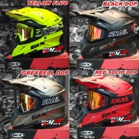 Helm GIX Cross Solid Paket Goggle SNAIL Helm Motocross Kacamata Cross