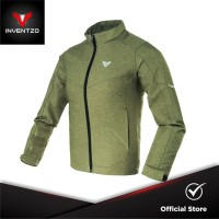 INVENTZO Cadora Alpha - Jaket Motor Tahan Angin Wanita - Army Green