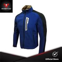 INVENTZO Turio Alpha - Jaket Motor Tahan Angin Pria - Blue Black