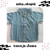 Kemeja Jeans Anak - 3XL