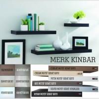 80x205x4cm Ambalan Rak Dinding Floating Shelf Kayu Datar Rak Buku DIY