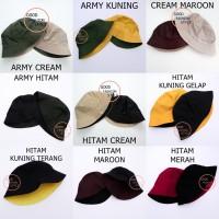 Topi Bucket Hat / Bucket Hat Bolak Balik / Bucket Premium / Topi Polos