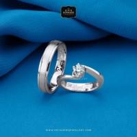 Cincin Kawin/Tunangan Emas Putih EP0022