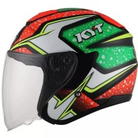 KYT KYOTO BLACK RED GREEN FLUO