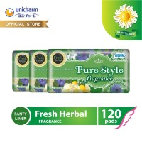 Charm Pure Style Pantyliner Fragrance Fresh Herbal 40 pads - 3 Packs