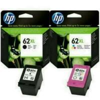 PAKETAN TINTA HP 62XL BLACK DAN 62XL COLOR ORIGINAL