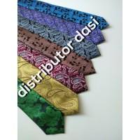 dasi batik import bahan polyester tebal lebar 3 inch atau 7 - 8 cm
